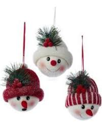 amazing deal on 1 set 3 assorted 5 inch snowman with hat