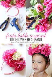 headband flowers craft frida inspired flower headband see craft