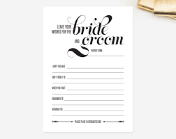 Printable Halloween Mad Libs by Wedding Mad Libs Card Leave Your Wishes For The Bride And