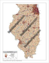 Population Density Map Stockmapagency Com Population Density Map Of Illinois With County