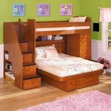 Pine Wood Bookshelf Kids Trundle Beds Two Tier Cherry Wood Shelves Placed Orange
