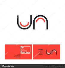 un letters logo business card u2014 stock vector brainbistro 150141786