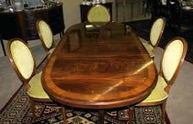 bnded inlid flme grin mhogny pedestl ovl tble antique dining room