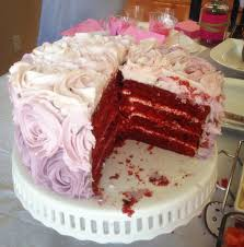 red velvet ombre rose cake blessings good food