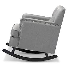 Modern Rocking Chair Nursery Amazon Com Baxton Studio Bethany Modern U0026 Contemporary Fabric