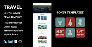 travel christmas and new year bonus templates with stampready