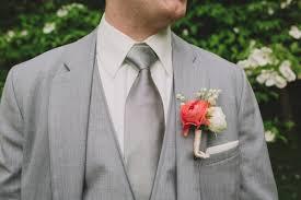 Coral Boutonniere Romantic Pennsylvania Wedding Ruffled
