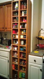 ikea cd rack used as a spice rack in my kitchen organization
