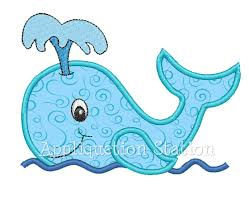 nautical design baby whale applique machine embroidery design blue boy or girl nautical