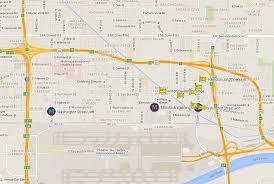 light rail to sky harbor map of hotels on phoenix valley metro light rail