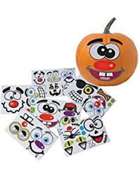amazon com pumpkin face decals halloween decorations pumpkin