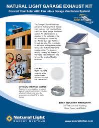 garage exhaust solar attic fan vent kit