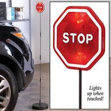 stop sign with led lights flashing led light garage stop sign for parking ebay