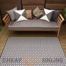 Outdoor Rugs Australia Kimberley Black 120x179 Indoor And Outdoor Plastic Rugs