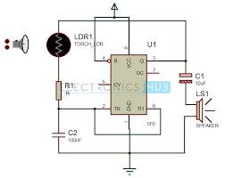 screaming siren lights circuit light activated alarm circuit