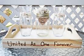 Sand Vases For Wedding Handmade Wedding Unity Sand Ceremony Set With Lace Flower U0026 Tray