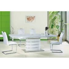 White Gloss Extendable Dining Table Fano