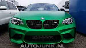 green color bmw m2 looks stunning in matte green color