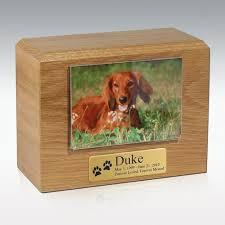 dog cremation oak photo pet cremation urn
