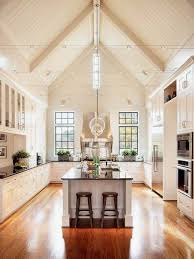 high modern vaulted ceiling kitchen lighting ideas with brown