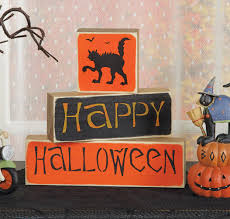 happy halloween image happy halloween sign blocks sturbridge yankee workshop
