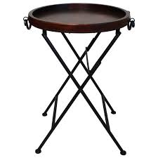 carter metal folding tray table black traditional tv carter classic metal wood tray table free shipping today