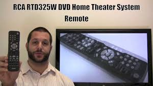 rca dvd home theater system troubleshooting rca rtd325w remote control www replacementremotes com youtube