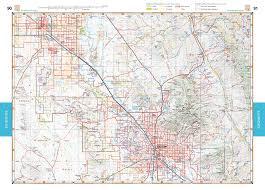 map of az arizona road recreation atlas benchmark maps