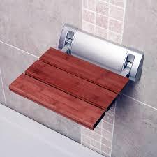 Folding Shower Seat Other Bathroom Bathroom Solid Wood Folding Shower Seat Wall