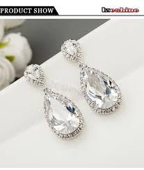 teardrop diamond earrings classic drop earrings aaa teardrop shape swiss cubic
