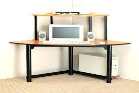 Small Oak Computer Desk Desk With Shelf Small Oak Corner Computer Storage Ideas Interque Co