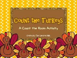 thanksgiving count the room count thanksgiving and recording sheets