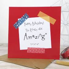 funny birthday u0027amazing for your age u0027 birthday card by wink design