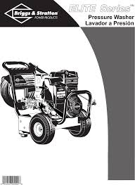 briggs u0026 stratton pressure washer 01808 user guide manualsonline com