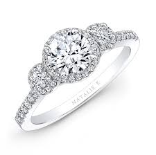 diamond halo rings images 18k white gold three stone diamond halo engagement jpg