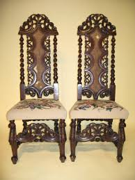 William And Mary Chair 17th 18th Century Pair William Mary Hall Chairs For Sale