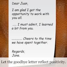 how to write the goodbye letter to a co worker