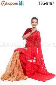 jamdani saree bangladesh yellow ash 3d dhakai jamdani saree colors of bengal