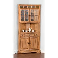 home styles arts u0026 crafts china cabinet cottage oak hayneedle