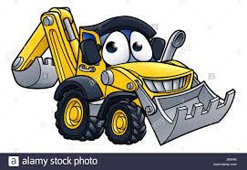 bulldozer character cartoon illustration stock photo royalty free