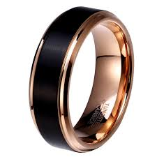 wedding band for 8mm 6mm 4mm black amp gold plate tungsten carbide wedding