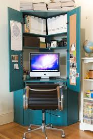 Corner Desk Armoire S Tucked In A Corner Hideaway Armoire Home Office Small