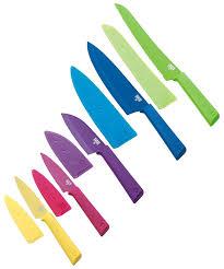 kuhn rikon colori set of 5 non stick everyday knife set multi