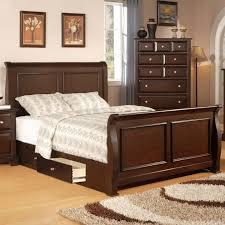 bed frames espresso king storage bed king storage bed frame
