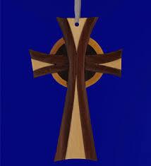 wooden celtic cross intarsia wood celtic cross ornament