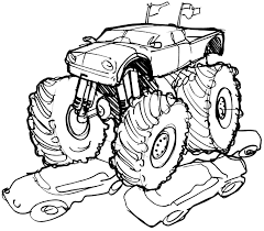 monster truck coloring pages coloring rocks