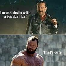 Baseball Memes - i crush skulls with a baseball bat that s cute baseball meme on me me