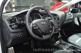kia steering wheel 2016 kia ceed facelift steering wheel at iaa 2015 indian autos