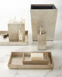 Wooden Bathroom Accessories Set by Luxury Bath Accessories At Neiman Marcus