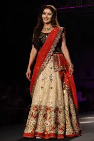 bridal collections madhuri dixit in black and lehenga indian fashion